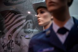Women in the Air Force display at the USAF Airman Heritage Museum